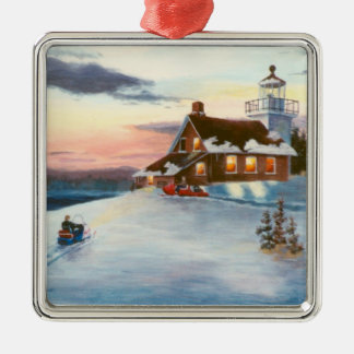 Polaris Sunset Lighthouse Ornament