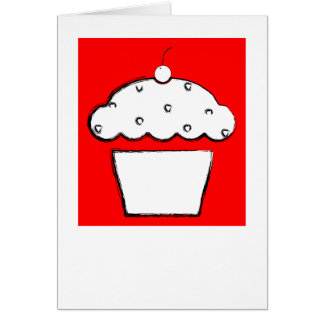 polaroid grunge cherry cupcake note card