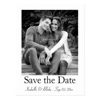 Polaroid photo save the date postcard
