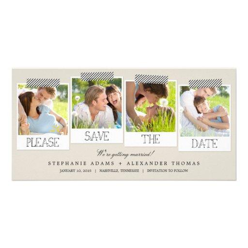 Polaroid Prints Save The Date Photo Cards - Khaki Photo Cards
