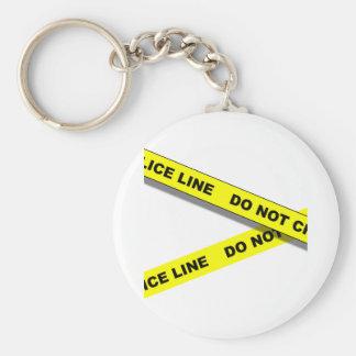 Polcie Line Keychain