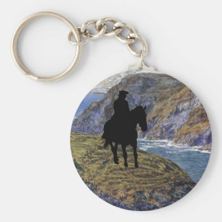 Poldark Basic Round Button Key Ring