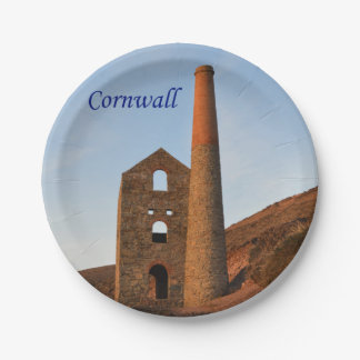 Poldark Country Mine Ruins Cornwall England Paper Plate