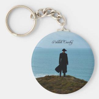 Poldark Country Photo Cornwall England Basic Round Button Key Ring