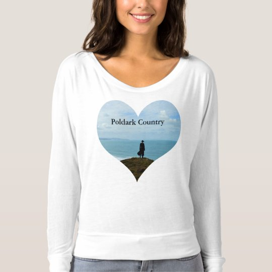 Poldark Country Photo Heart Cornwall England T-Shirt