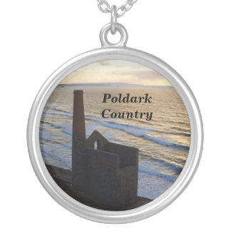 Poldark Country Wheal Coates Mine Cornwall England Silver Plated Necklace