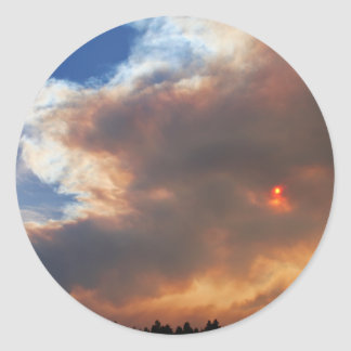 Pole Creek Fire, Sisters, Oregon Round Stickers
