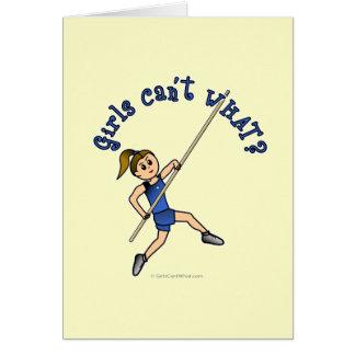 Pole Vault - Blue (Light) Card
