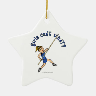 Pole Vault - Blue (Light) Christmas Ornament