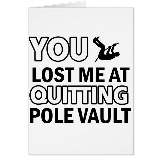 Pole vault designs card