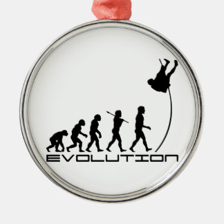 Pole Vault Sport Evolution Art Christmas Ornament