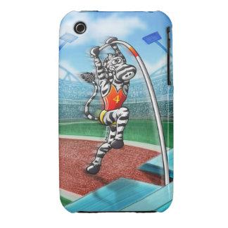 Pole Vault Zebra iPhone 3 Covers