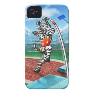 Pole Vault Zebra iPhone 4 Case