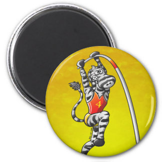 Pole Vault Zebra Magnet