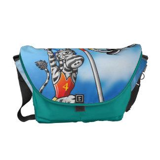 Pole Vault Zebra Messenger Bag