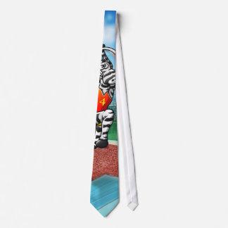 Pole Vault Zebra Tie