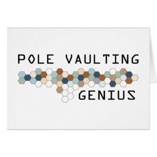 Pole Vaulting Genius Card