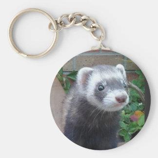 Polecat ferret key ring