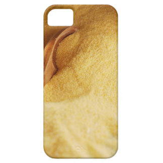 Polenta with wooden spoon and bowl iPhone 5 covers
