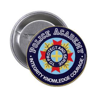 Police Academy 6 Cm Round Badge