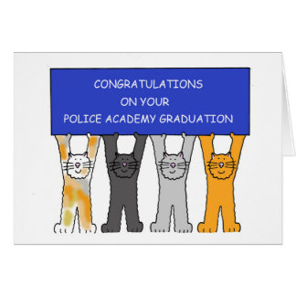 Police Academy graduate congratulations. Greeting Cards
