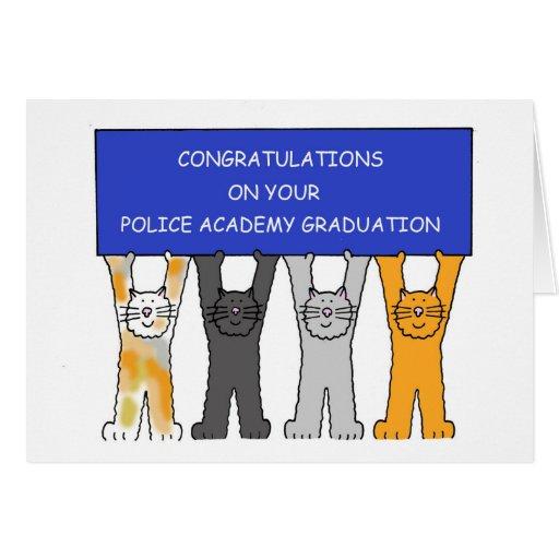 Police Academy graduate congratulations. Greeting Cards