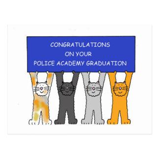 Police Academy graduate congratulations. Postcard