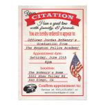 Police Academy Graduation Citation Invitation