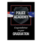 Police Academy Graduation Congratulations, Black w Card