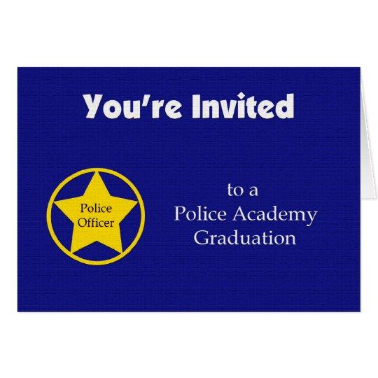 Police Academy Graduation Invitation -- Navy