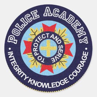 Police Academy Round Sticker