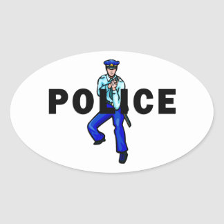 Police Action Oval Stickers