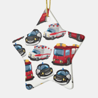 Police, Ambulance and Fire Service transport Christmas Ornament