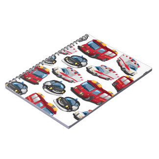Police, Ambulance and Fire Service transport Spiral Notebook