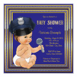 Police Baby Shower 13 Cm X 13 Cm Square Invitation Card