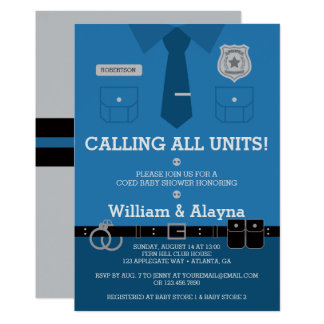 Police Baby Shower Invitation