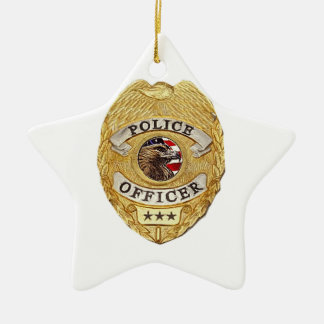 Police_Badge_Active Christmas Ornament
