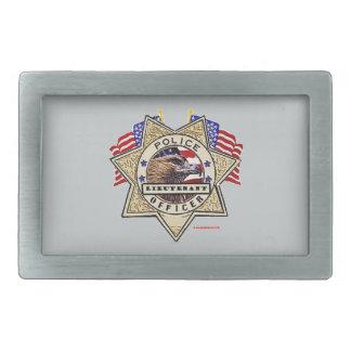 Police_Badge_Officer - Lt Rectangular Belt Buckles