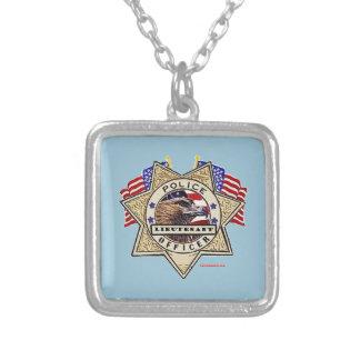 Police_Badge_Officer - Lt Square Pendant Necklace
