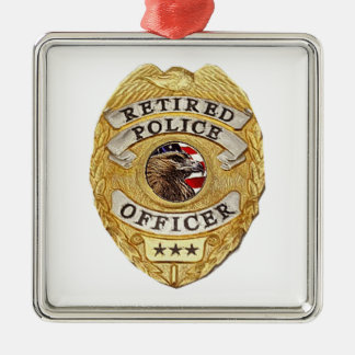 Police_Badge_Retired Christmas Ornament
