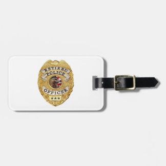 Police_Badge_Retired Luggage Tag