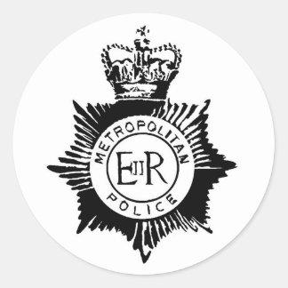 Police Badge Round Sticker
