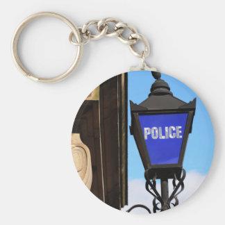 Police Basic Round Button Key Ring