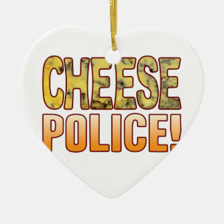 Police Blue Cheese Ceramic Heart Decoration