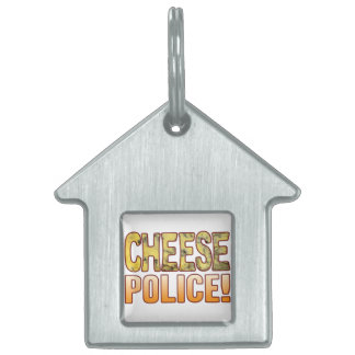 Police Blue Cheese Pet Name Tags