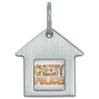 Police Blue Cheesy Pet ID Tag