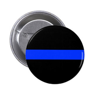 Police Blue Thin Line Button.