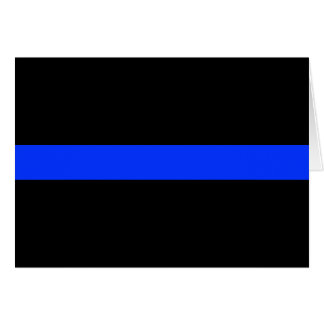 Police Blue Thin Line Card