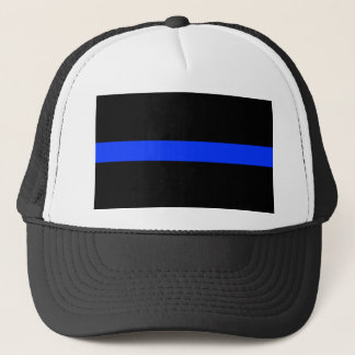Police Blue Thin Line Trucker Hat