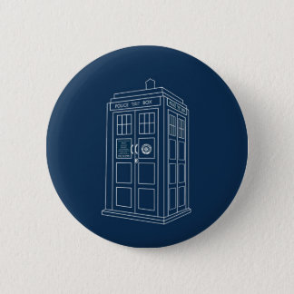 Police Box 6 Cm Round Badge